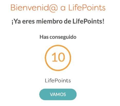 10 lifepoints por el registro min