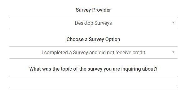 survey provider min