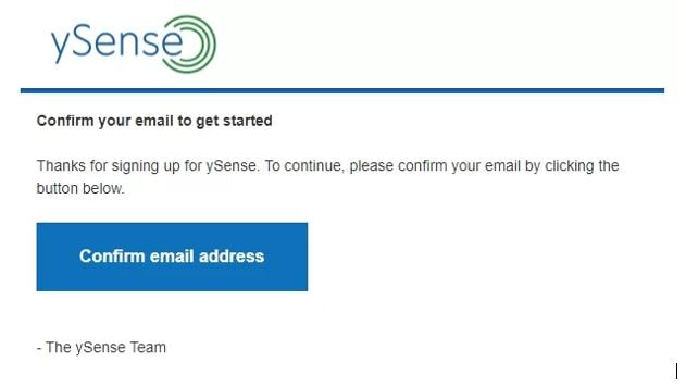 ysense email verificacion min