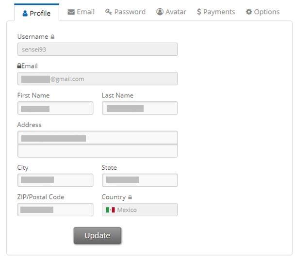 ysense profiles settings min